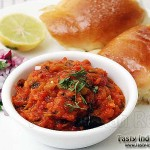 Khada Pav Bhaji with Buttery Pav, Onion and Lemon