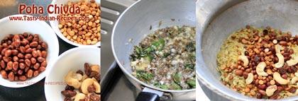 Poha Chivda Recipe step 4