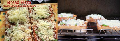how to make bread pizza at home step by step