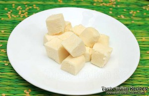 Homemade Paneer Chunks