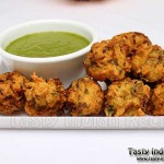 Rice Pakora Recipe / Rice Fritters Recipe