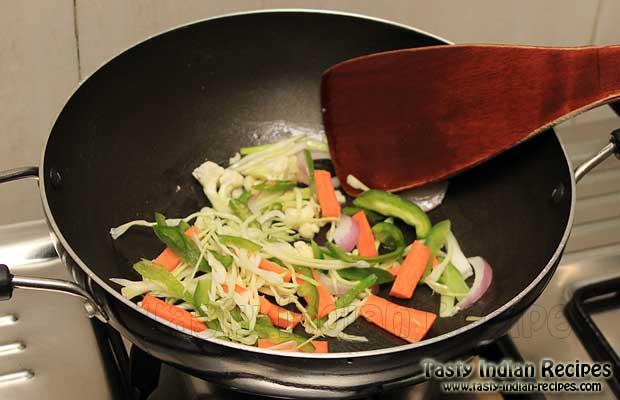Schezwan Mushroom Dry Recipe Steps