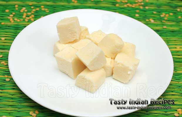 Homemade Paneer For Making Fruit Sandesh