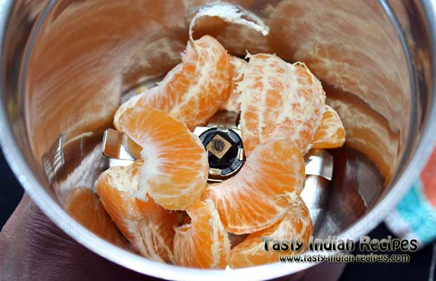 Orange Slices In Blending Jar