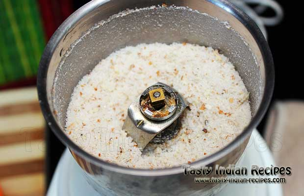 Grind the sugar mixture into a smooth powder form