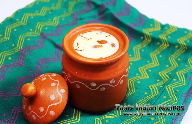 Saffron Flavored Almond Milk