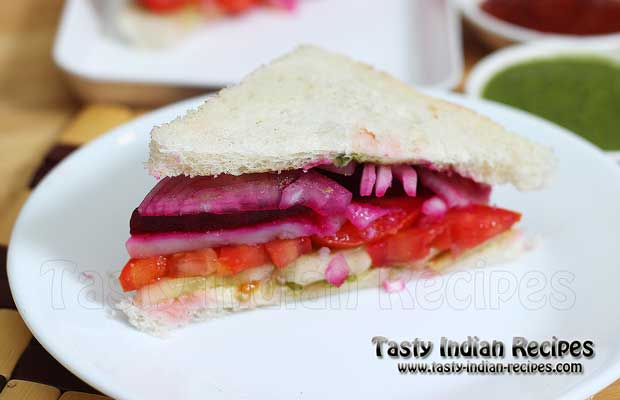 Vegetable Sandwich Recipe Tasty Indian Recipes