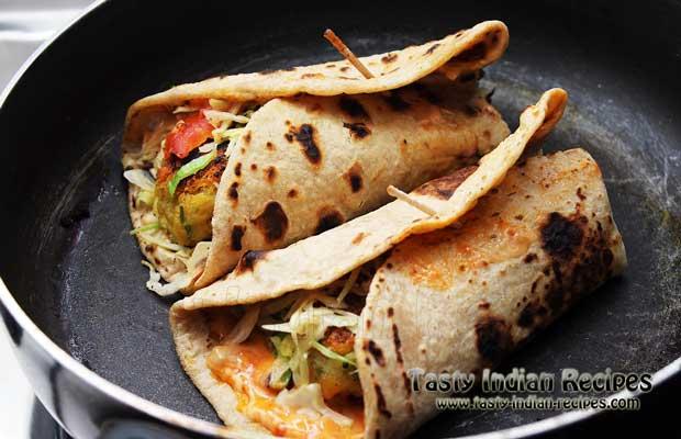 Aloo Tikki Wrap Recipe Step 10