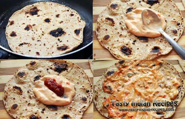Aloo Tikki Wrap Recipe Step 7