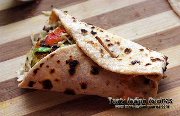 Aloo Tikki Wrap Recipe Step 9