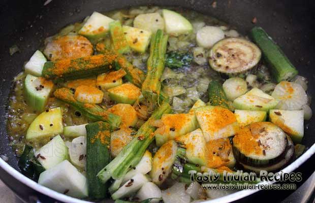 Araichu Vitta Sambar Recipe Step 10