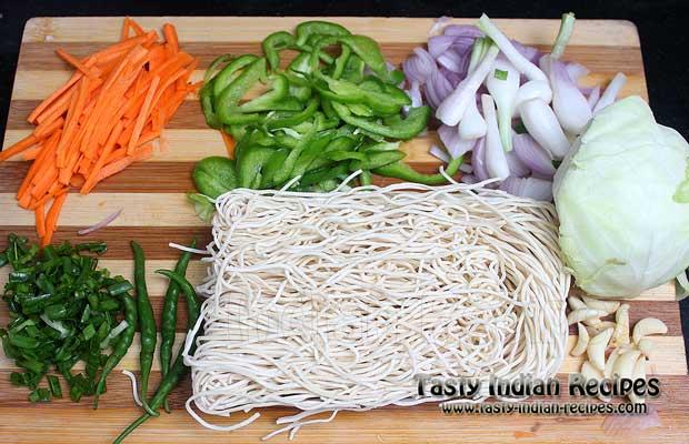 Schezwan Noodles Recipe Ingredients