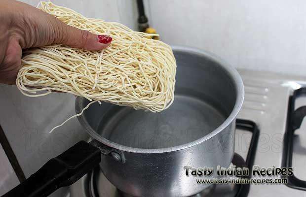 Schezwan Noodles Recipe Step 1