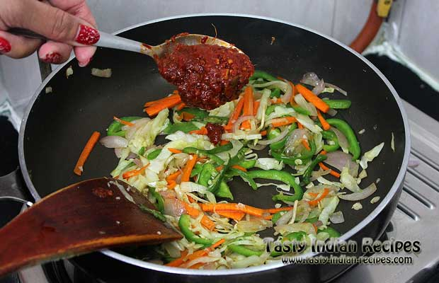 Schezwan Noodles Recipe Step 10