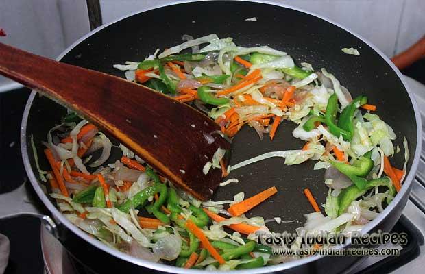 Schezwan Noodles Recipe Step 9