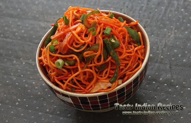 Schezwan Noodles Recipe / Schezwan Hakka Noodles Recipe