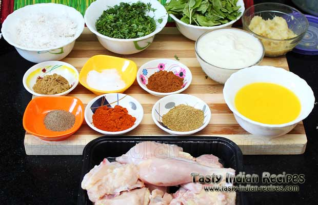 Ingredients for making Hyderabadi Chicken Curry