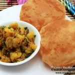 Dry Aloo Poori Recipe