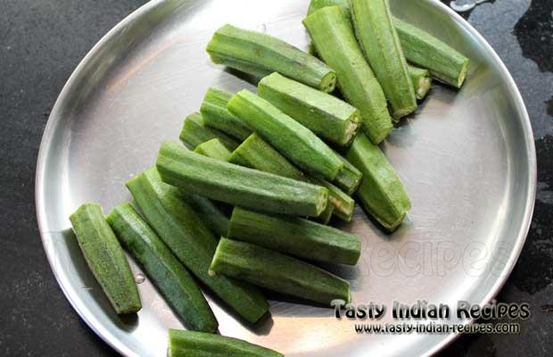 Stuffed Aloo Bhindi Recipe Step 2