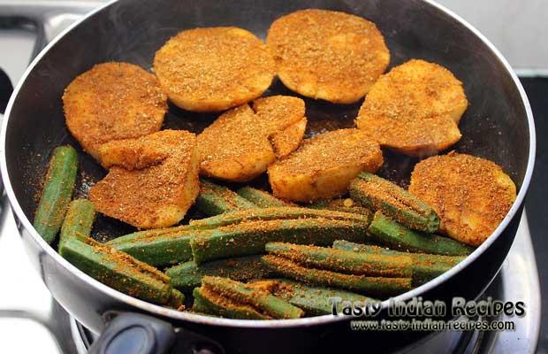 Stuffed Aloo Bhindi Recipe Step 4