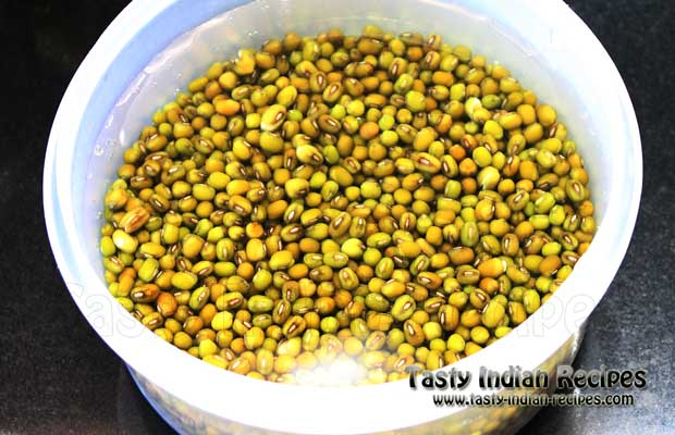 Whole Green Moong Dal Recipe Step 1