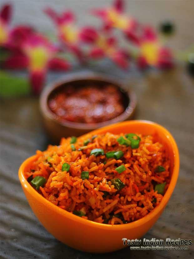 Veg Schezwan Fried Rice Recipe 1