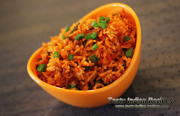 Veg Schezwan Fried Rice Recipe - How to make Veg Schezwan ...
