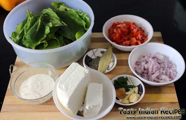 Punjabi Palak Paneer Recipe Ingredients