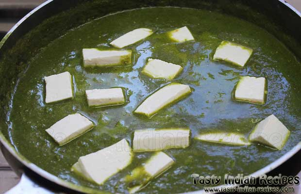 Punjabi Palak Paneer Recipe Step 8